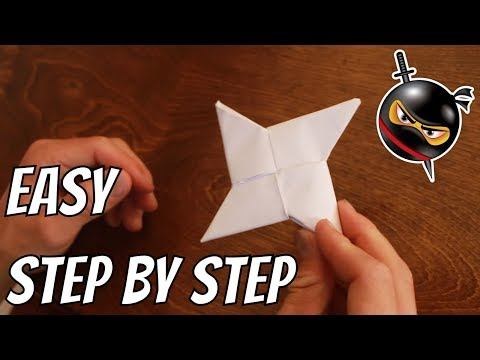 How To Make A Paper Ninja Star EASY!