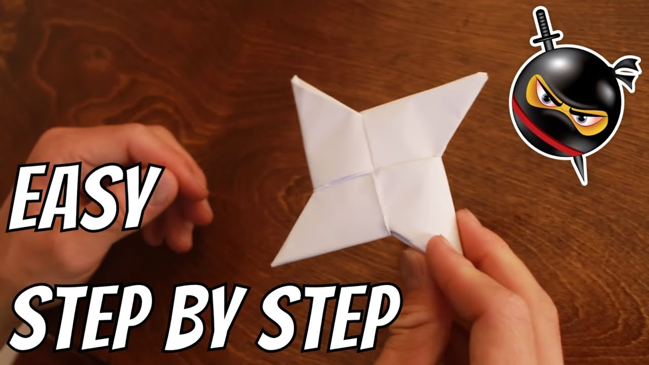 How to make a ninja star with lined paper