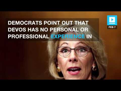 Senate Democrats debate all night in hopes of stopping DeVos