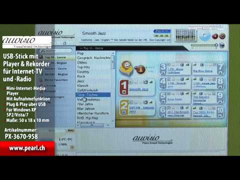 auvisio USB-Stick mit Player & Rekorder für Internet-TV und -Radio