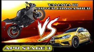 Golf R 7.5 Stage 3 APR Thanos vs. Yamaha R1 Power Commander