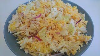 Салат ЛЕБЕДИНЫЙ ПУХ с пекинской капустой: рецепт