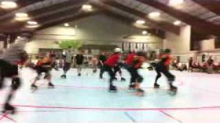 Roller Derby - GREAT HIT at about :51 seconds