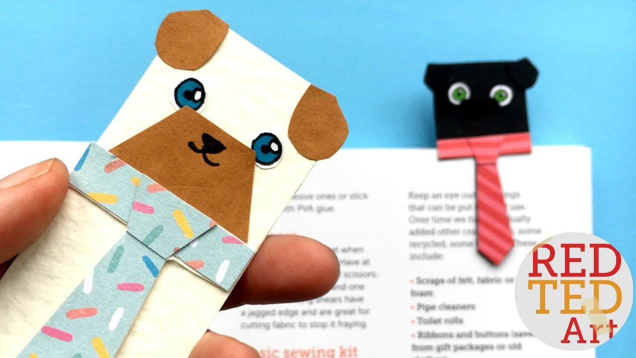 Easy Pug Bookmark Idea Hug A Book Bookmark Designs Youtube