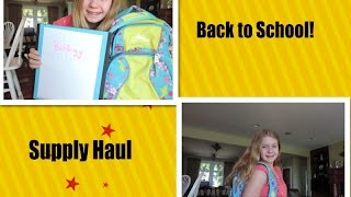 Back to school! / Supplies Haul / Freshman Year! Thumbnail