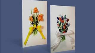 Make a 3D Greeting Card with Flowers on the Front