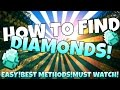 "MINECRAFT :HOW TO FIND DIAMONDS QUICK AND EASY!""XBOX 360,ONE,PS4,PS3 AND PC!""MUST WATCH"