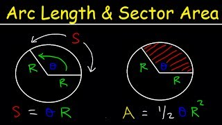 Arc Length of a Circle Formula Sector Area, Ex les, Radians, In Terms of Pi, Trigonometry