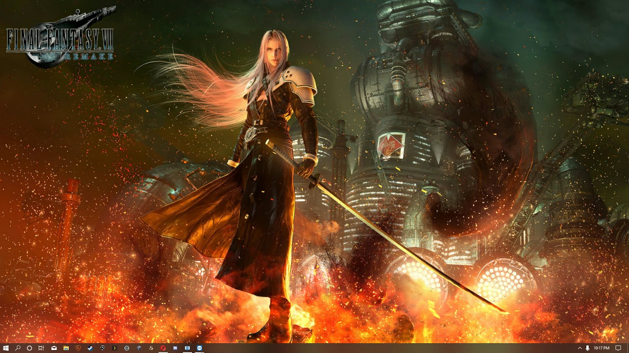 Final Fantasy Vii Remake Sephiroth Wallpaper Engine Youtube