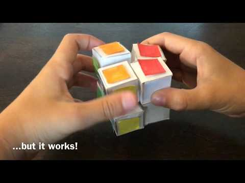 How to Make a 2x2x2 Rubik's Cube Out of Paper! (Check description)