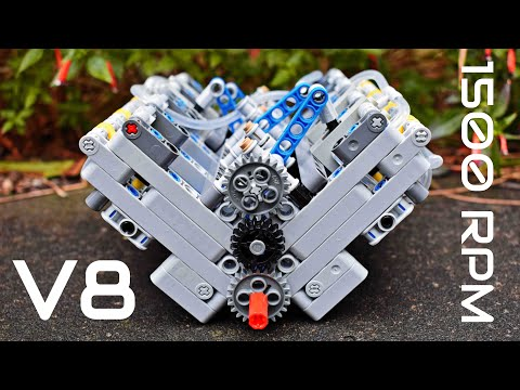 LEGO Technic Pneumatic V8 Engine - Crazy Power! - MOC - With Instructions and Parts List