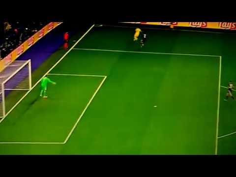 1er but du Paris SG face à Anderlecht but de Mbappé