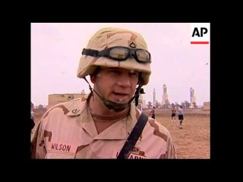 Thanksgiving sports events and meal for troops in Iraq