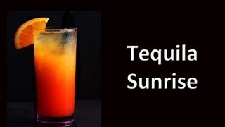 Tequilia Sunrise Cocktail Drink Recipe