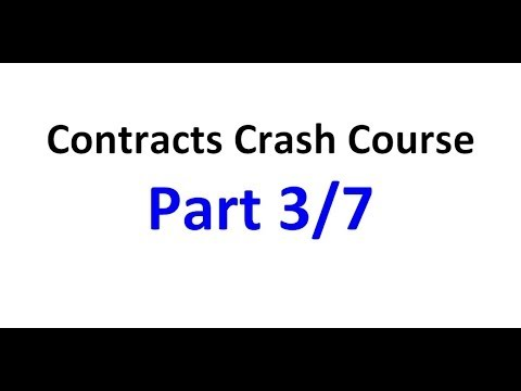 Contracts - Exam Crash Course Part 3/7