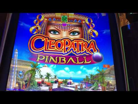 CLEOPATRA PInball! Video Slot Machine Bonus 2 Jackpots New 2018 Las Vegas Today Pokies Big Win Fun