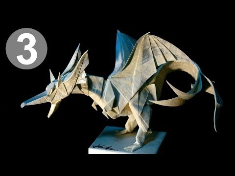 part34 how to fold origami fiery dragon ver2