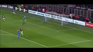 Krzysztof Piątek 1 goal AC Milan vs Napoli