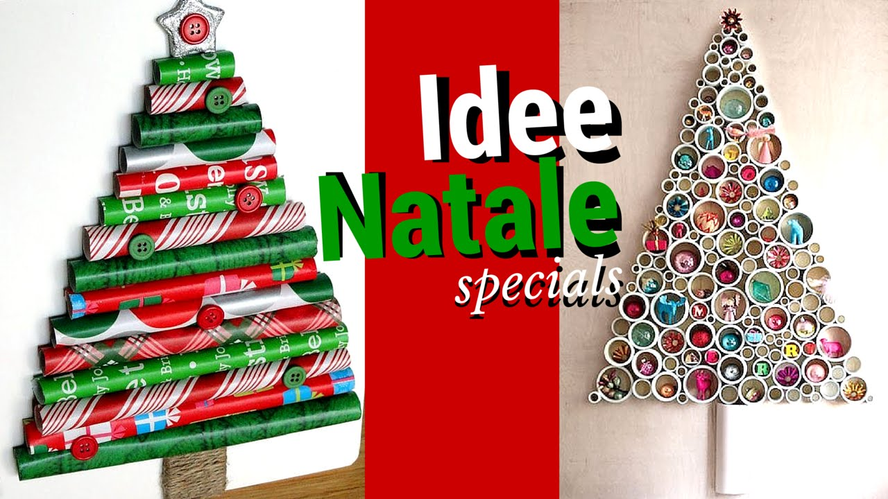 albero natale 18 idee creative youtube. Black Bedroom Furniture Sets. Home Design Ideas