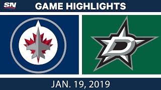 NHL Highlights | Jets vs. Stars - Jan. 19, 2019
