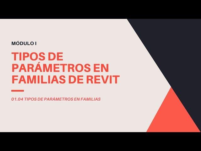 Familias en Revit 2020 | 04 Tipos de parametros de Familias en Revit