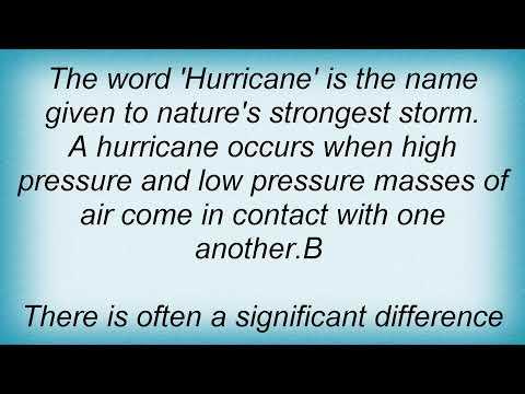 Air - The Word 'hurricane' Lyrics