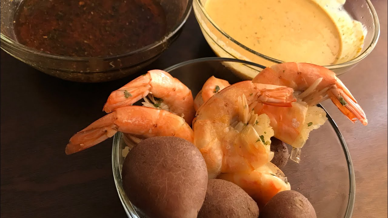 COLOSSAL SHRIMP and Red Potatoes With BLove Sauce