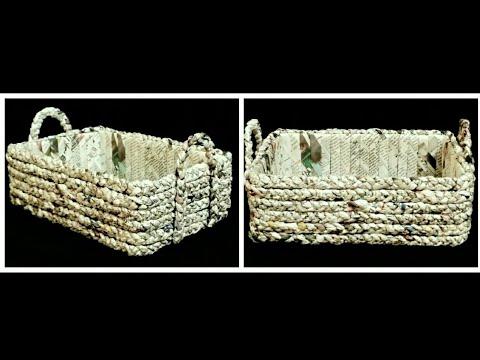 How to make a Newspaper Basket
