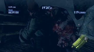 Resident Evil 6 (PS4) The mercenaries DUO The Catacombs 1562k Chris