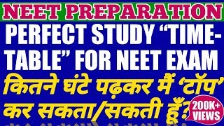 Perfect Study Time Table For NEET 2020 | Daily Routine For Medical Aspirant With Time Management |