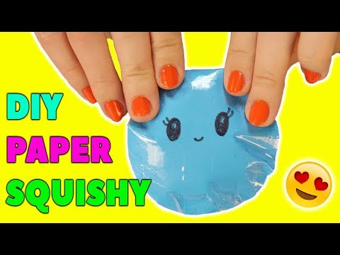 DIY Squishy ! How to make a PAPER SQUISHY Without Foam At Home ! EASY TUTORIAL
