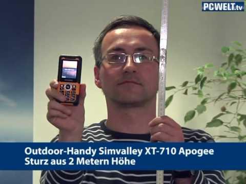 Outdoor-Handy Simvalley XT-710 Apogee - Sturz aus 2 Metern Höhe