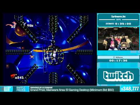 Earthworm Jim by Athens_ in 32:55 - Summer Games Done Quick 2015 - Part 74