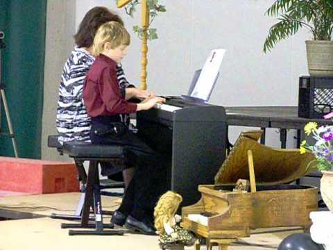 Gage piano recital Lake George Charter School.