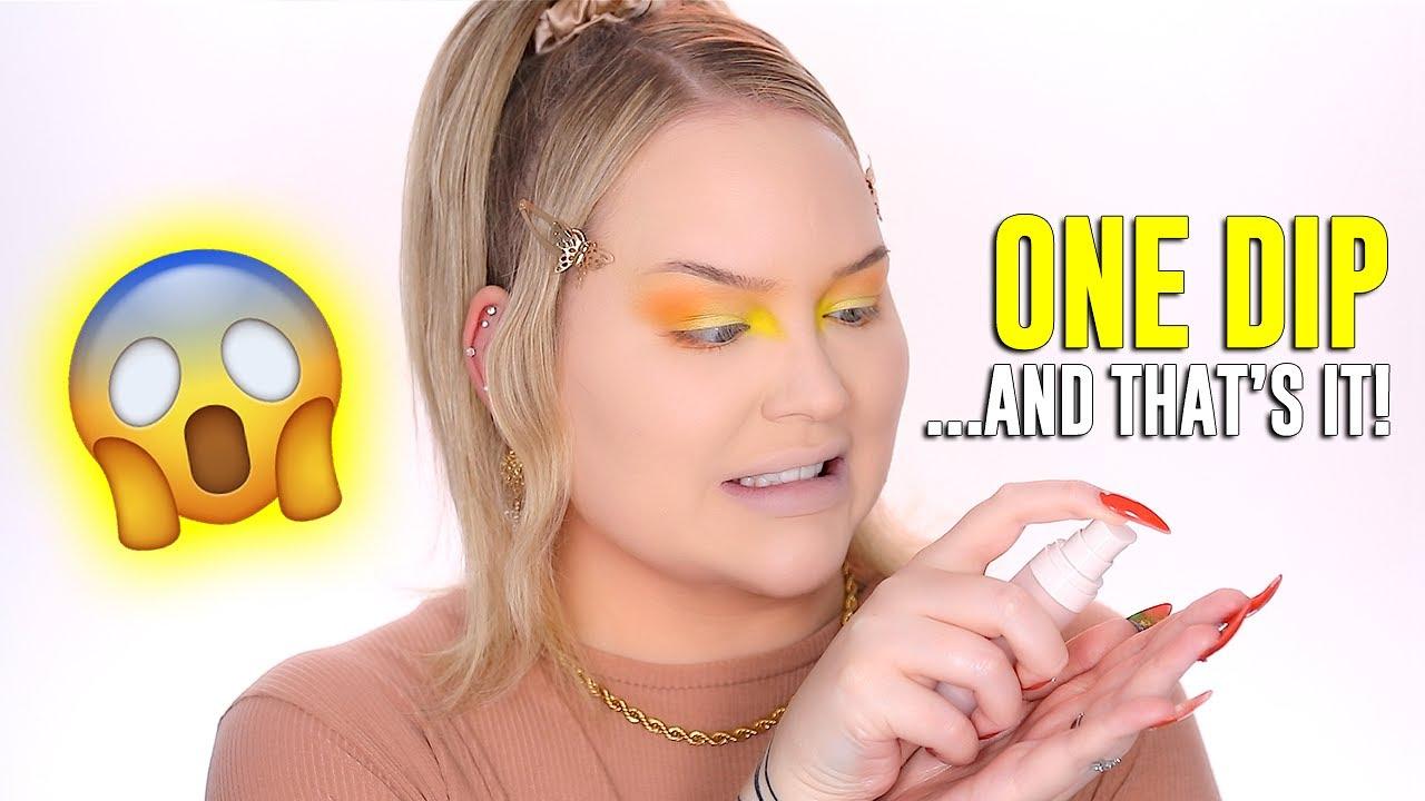 ONE DIP Makeup Challenge! OMG! | NikkieTutorials