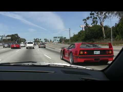 Exotic car drive to the Long Beach Grand Prix-To the races