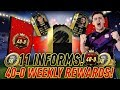 TOP 100 40-0 WEEKLY REWARDS!! 11 INFORMS ULTIMATE TOTW PACK OPENING ON FUT CHAMPIONS!