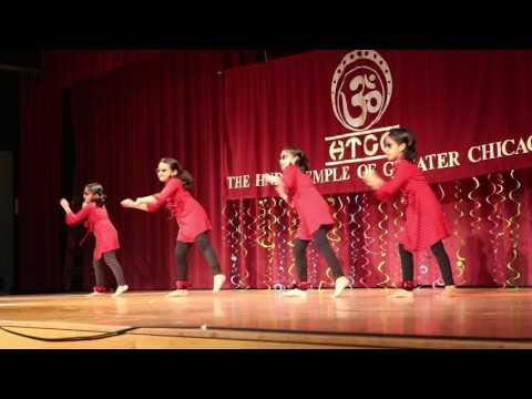 Mundelein Kids dance at Great Chicago Hindu Temple