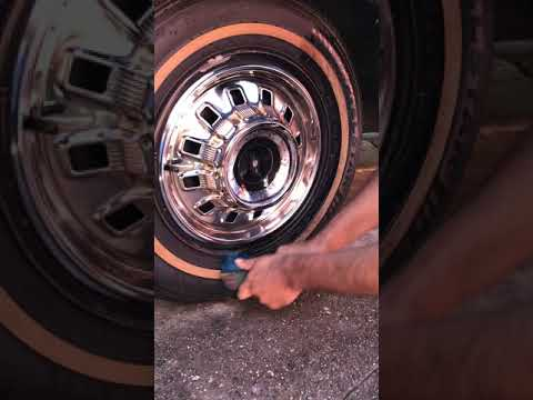 How to  clean White wall tires!