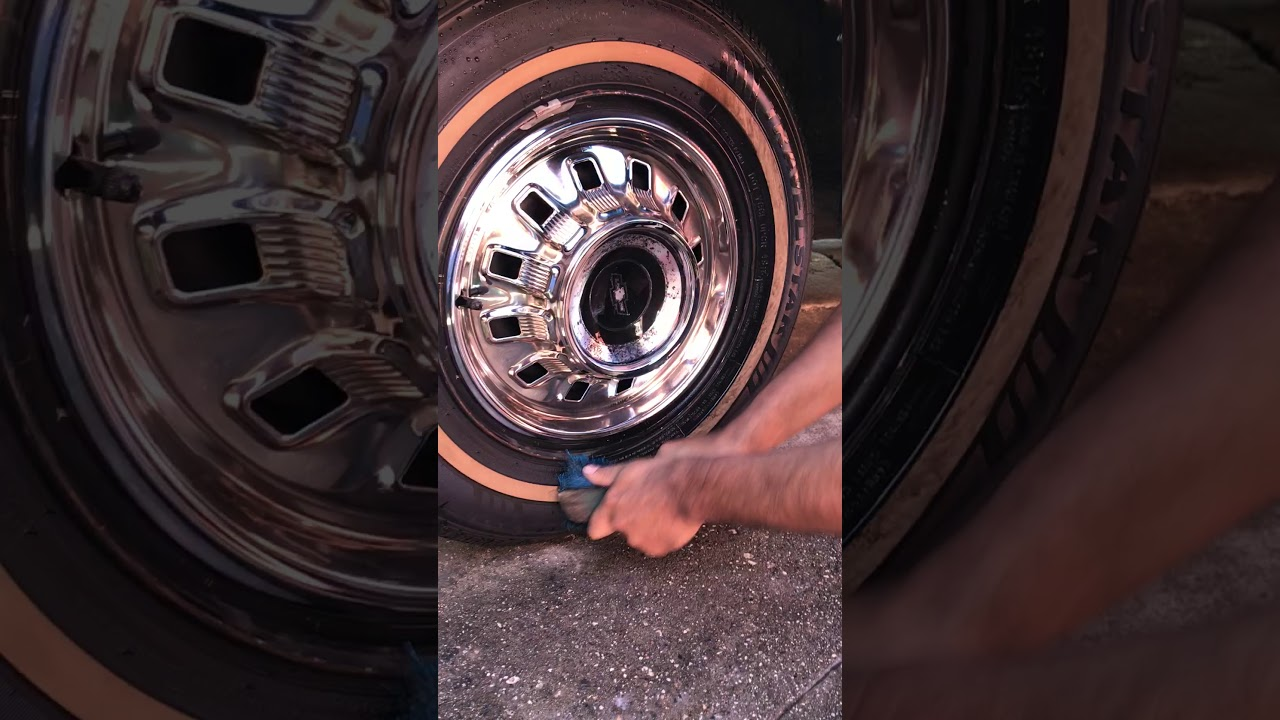 how to clean white walls tires