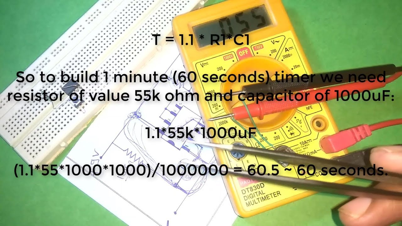 How To Make 1 Minute Timer Circuit Using 555 Ic Youtube Diagram