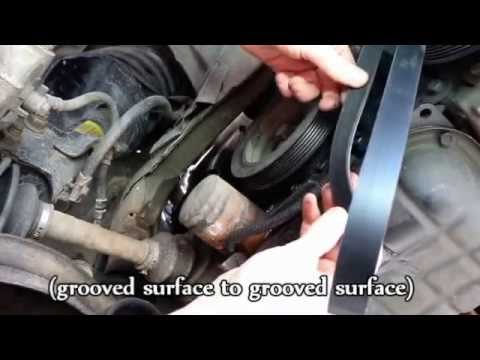 1998    Nissan    Maxima Serpentine Belt Replacement  YouTube