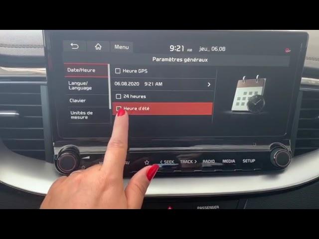 ❌TUTO❌ élodie vous explique comment changer d'heure sur un Kia Xceed