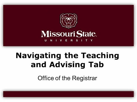 My Missouri State Resources For Faculty