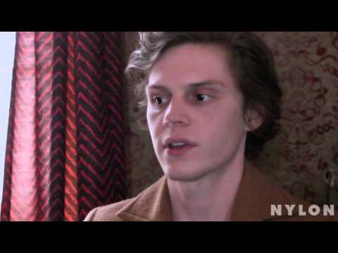 Evan Peters talks tattoos, horror movies, and hidden talents for Nylon Magazine