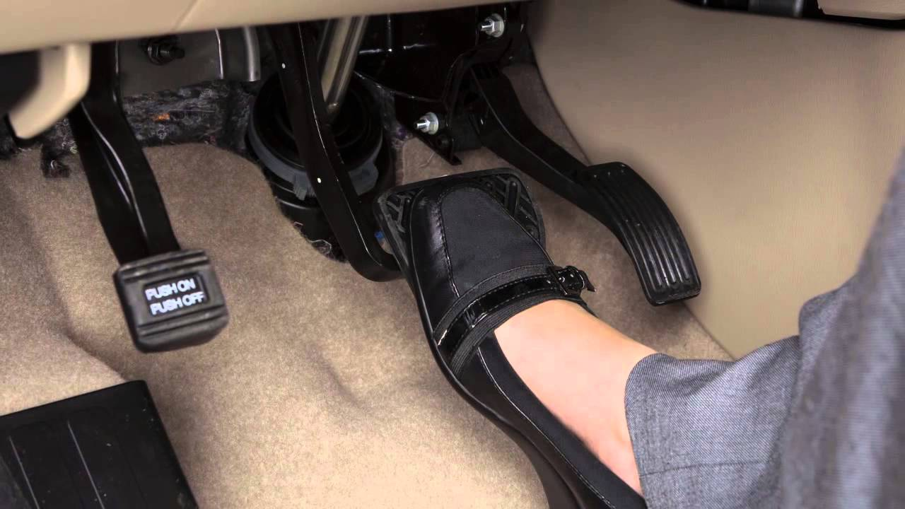 Car With Foot Pedal Parking Brake