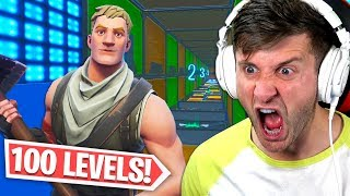 attempting the 100 level default Fortnite deathrun... (SEND HELP)