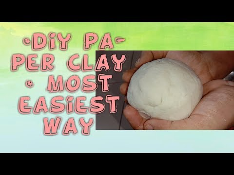Easiest and perfect way of making paper clay# tissue paper clay#