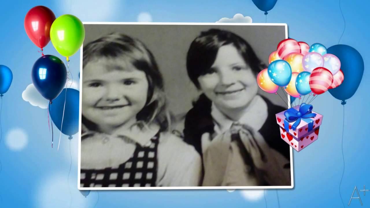 Открытка с 45 лет сестре, видео открытка