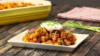 Курица с картофелем  в остром соусе